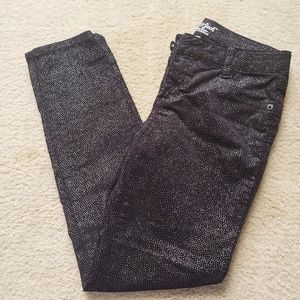 Girls Cat & Jack Black/Sparkle Skinny Jeans